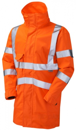 High Visibility Orange Breathable Leo Clovelly Interactive Jacket