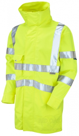 High Visibility Yellow Breathable Leo Clovelly Interactive Jacket