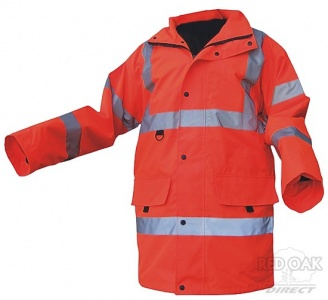 High Visibility Orange Breathable Jubilee Jacket