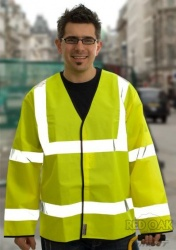 High Visibility Lightweight Yellow  Jacket