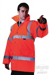 High Visibility Orange Waterproof Traffic Jacket