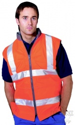 High Visibility Orange Reversible Bodywarmer