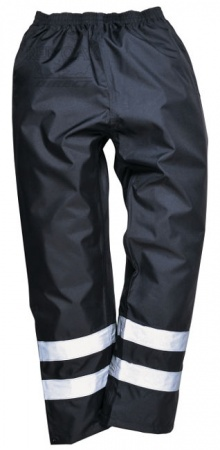 High Visibility Navy Blue Waterproof Overtrousers