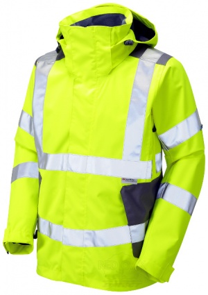 Premium High Visibility Yellow Breathable Waterproof Jacket