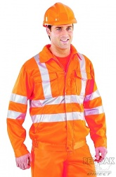 Printed Rail Spec High Visibility Orange Jacket