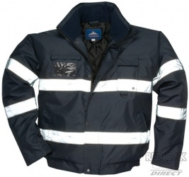 High Visibility Black Or Navy Blue Waterproof Security Bomber Jacket