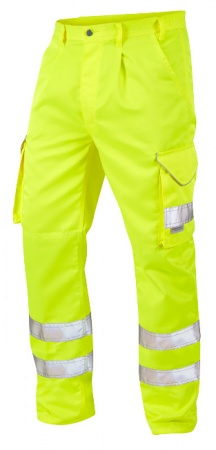 High Visibility Yellow Superior Cargo Trousers EN471