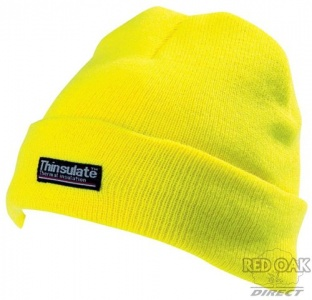High Visibility Yellow Beanie Hat