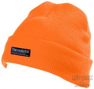 High Visibility Orange Beanie Hat