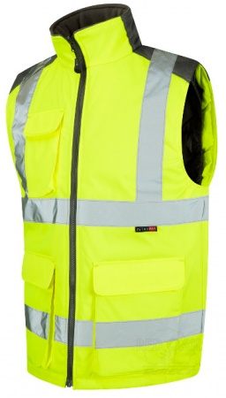 High Visibility Yellow Leo Two-Tone Interactive Bodywarmer