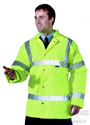 High Visibility Waterproof Yellow Traffic Jacket EN ISO 20471