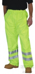 High Visibility Yellow Waterproof Overtrousers EN471