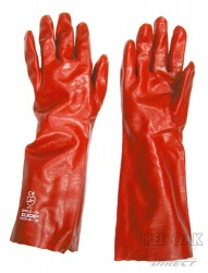 Red 16'' PVC Gauntlet