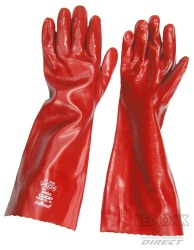 Red 18'' PVC Gauntlet