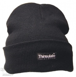 Black Thinsulate Beanie Hat