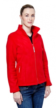 Ladies Classic Full Zip Fleece Jacket with Ribbed Trimming