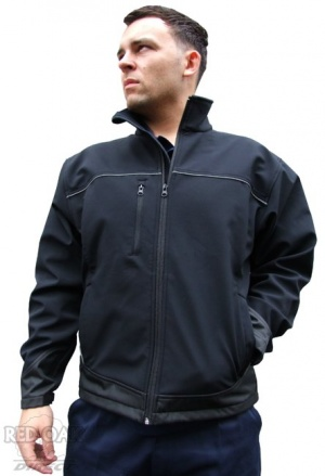 Premium Soft Shell Jacket With Reflective Piping - Free Printing Offer!