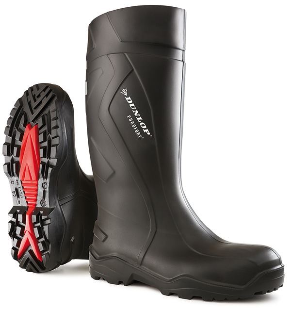 Dunlop Purofort Rugged Full Safety Wellington with Steel Toe Cap S5 CI SRC