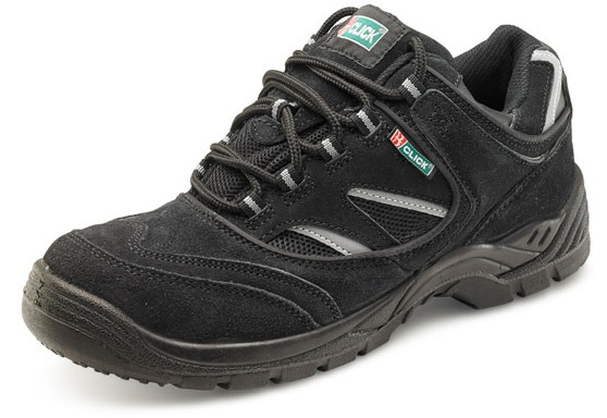 ec17c025629 Safety Trainer Shoe - Black With Steel Toe Cap And Midsole