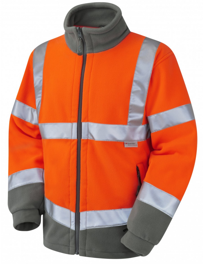 High Visibility Orange Two-Tone Interactive Fleece Jacket