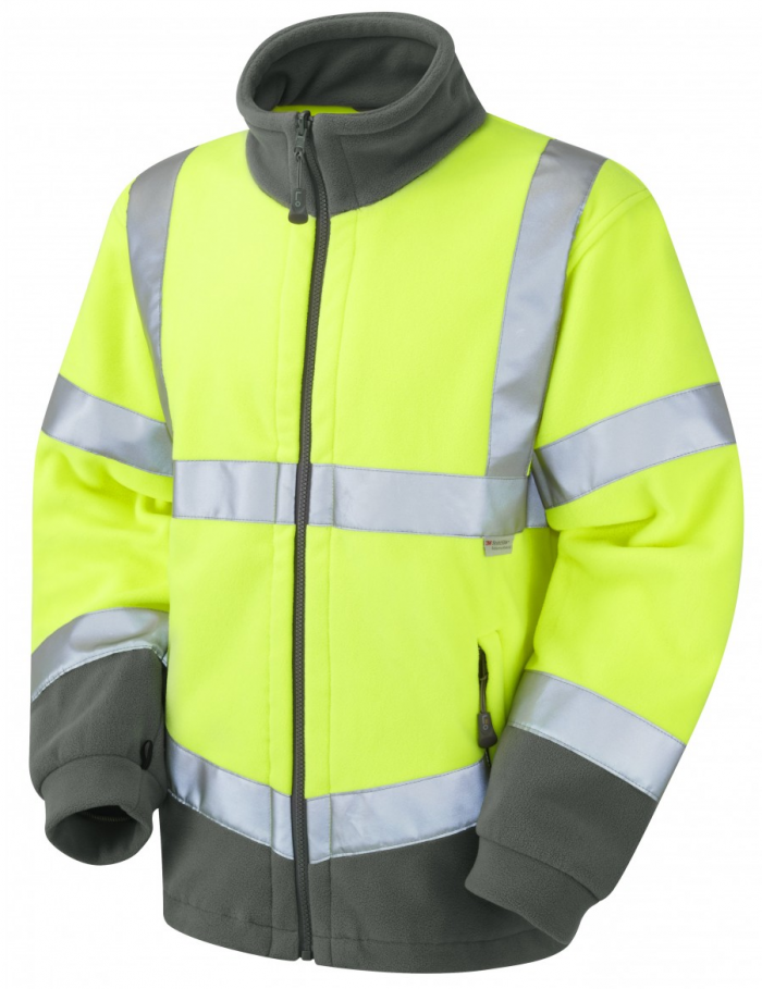 High Visibility Yellow Two-Tone Interactive Fleece Jacket