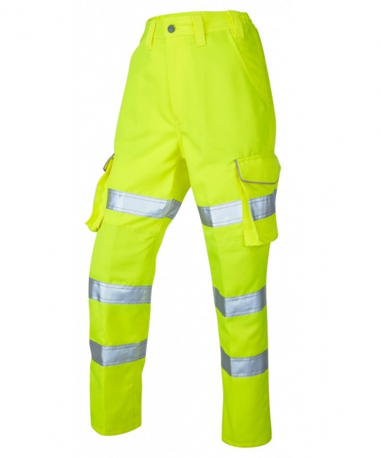 new product cute fashion styles High Visibility Pennymoor Yellow Ladies Cargo Trouser EN471