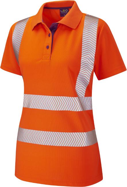 3ddfb0be High Visibility Orange Coolviz Plus Pippacott Ladies Polo Shirt ...