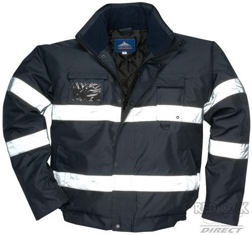 05f113fb2 High Visibility Black Or Navy Blue Waterproof Security Bomber Jacket
