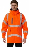 Marisco Extreme Performance High Visibility Orange Breathable Waterproof Jacket