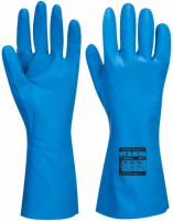 A814 - Food Approved Nitrile Gauntlet Blue