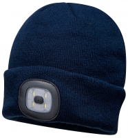 LED Rechageable Black Beanie Hat