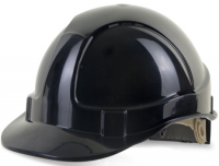 Executive Black Safety Helmet With Ratchet Adjuster