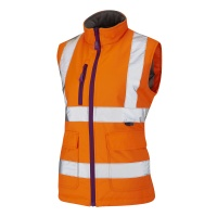 Ladies Sandymere Premium High Visibility Orange Bodywarmer