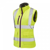 Ladies Sandymere Premium High Visibility Yellow Bodywarmer