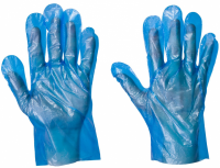 Blue P.E. Disposable Lightweight Gloves