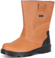 Premium Safety Leather Rigger Boots With Steel Toe Cap, Mid Sole, & TPU Structured Heel Support