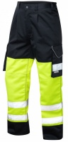 High Visibility Superior Yellow & Navy Cargo Trousers ENISO 20471