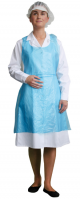 D300 - Disposable PE Bib Apron Blue - Pack Of 100 or 2000