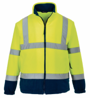 High Visibility F301 Yellow & Navy Two-Tone Fleece Jacket