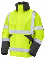 High Visibility Superior Yellow Waterproof Bomber Jacket EN471