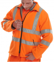 High Visibility Orange Carnoustie Interactive Fleece