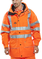 High Visibility Orange Carnoustie Breathable Waterproof Jacket