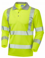 Long Sleeve Superior Coolviz High Visibility Yellow Advanced Polo Shirt
