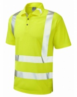 Leo Workwear P09-Y Broadsands Coolviz Ultra High Visibility Yellow Polo Shirt