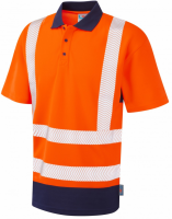 Superior Coolviz Plus High Visibility Orange/Navy Mortehoe Polo Shirt