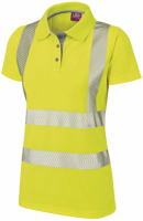 High Visibility Yellow Coolviz Ultra Pippacott MK2 Ladies Polo Shirt