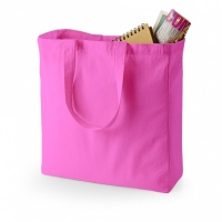Quadra QD023 Fuchsia Pink Canvas Classic Shopper Tote Bag
