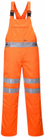High Visibility Orange Poly Cotton Bib & Brace Overall