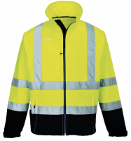 High Visibility Yellow Navy S425YNR Portwest Softshell Jacket