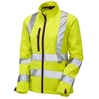 Ladies Honeywell Premium High Visibility Yellow Softshell Jacket